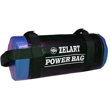 Мешок для кроссфита и фитнеса ZLT Power Bag 15 кг черно-синий