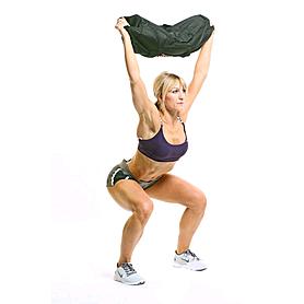 Фото 2 к товару Мешок для кроссфита и фитнеса ZLT Power Bag 15 кг черно-синий