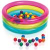 Бассейн детский надувной Intex 48674 (85х25 см) с шариками - фото 1
