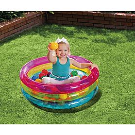 Фото 2 к товару Бассейн детский надувной Intex 48674 (85х25 см) с шариками
