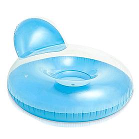 Фото 1 к товару Кресло надувное пляжное Intex 58889 (137х122 см) синее