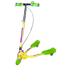 Трайк-самокат трехколесный Scooter Trikke Bug (125 мм) для детей желтый