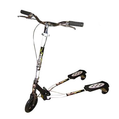Трайк-самокат трехколесный детский Trikke Scooter (180 мм) черный