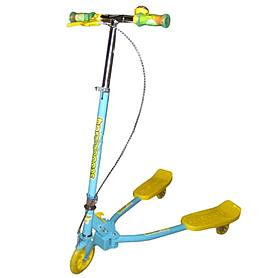 Трайк-самокат трехколесный Scooter Trikke Bug (125 мм) для детей голубой