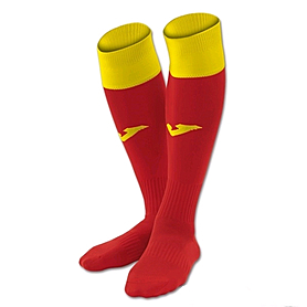Гетры Calcio красно-желтые