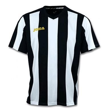 Футболка футбольная Joma Pisa 10 бело-черная