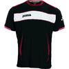 Футболка футбольная Joma Terra черная - фото 1