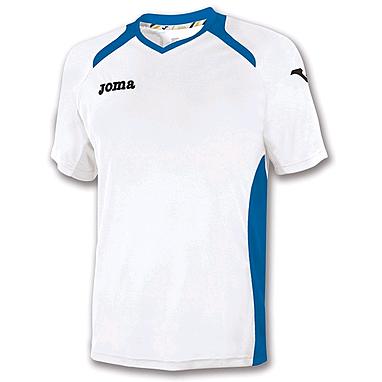 Футболка футбольная Joma Champion II бело-синяя