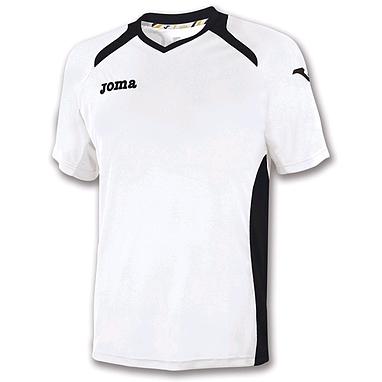 Футболка футбольная Joma Champion II бело-черная