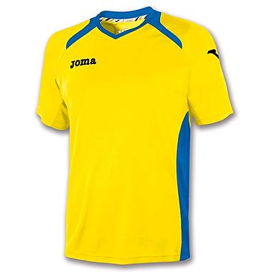 Футболка футбольная Joma Champion II желто-синяя