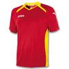 Футболка футбольная Joma Champion II красно-желтая - фото 1