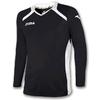Футболка футбольная с длинным рукавом Joma Champion II черная - фото 1