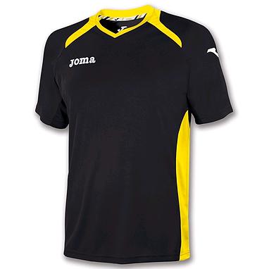 Футболка футбольная Joma Champion II черно-желтая