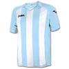 Футболка футбольная Joma Pisa 12 бело-голубая - фото 1