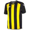 Футболка футбольная Joma Pisa 12 черно-желтая - фото 1