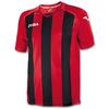 Футболка футбольная Joma Pisa 12 красно-черная - фото 1