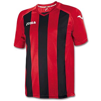 Футболка футбольная Joma Pisa 12 красно-черная
