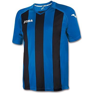 Футболка футбольная Joma Pisa 12 сине-черная