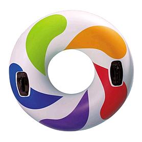 """Круг надувной """"Цветная капля"""" Intex 58202 (119 см) с ручками"""