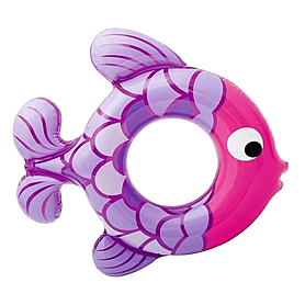 Круг надувной Intex 59222 фиолетово-розовый (77х76 см)