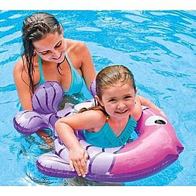 Фото 2 к товару Круг надувной Intex 59222 фиолетово-розовый (77х76 см)