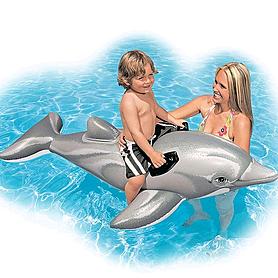 """Плотик детский """"Дельфин"""" Intex 58535 (175х66 см)"""