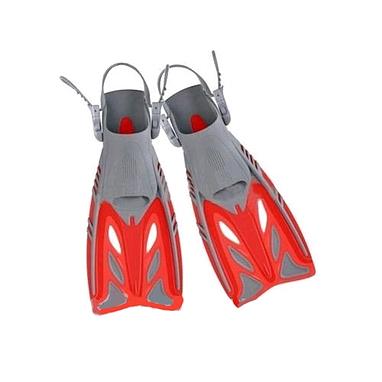 Ласты с открытой пяткой Dorfin (ZLT) красные, размер - 27-31