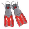 Ласты с открытой пяткой Dorfin (ZLT) красные, размер - 32-37 - фото 1