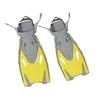 Ласты с открытой пяткой Dorfin (ZLT) желтые, размер - 27-31 ZP-452-Y-27-31 - фото 1