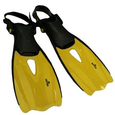 Ласты с открытой пяткой Dorfin (ZLT) желтые, размер - 27-31