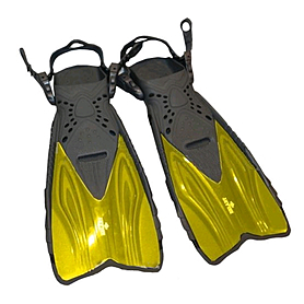 Фото 1 к товару Ласты с открытой пяткой Dorfin (ZLT) желтые, размер - 27-31 ZP-450-Y-27-31