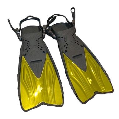 Ласты с открытой пяткой Dorfin (ZLT) желтые, размер - 32-37