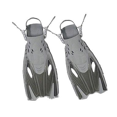 Ласты с открытой пяткой Dorfin (ZLT) серые, размер - 32-37