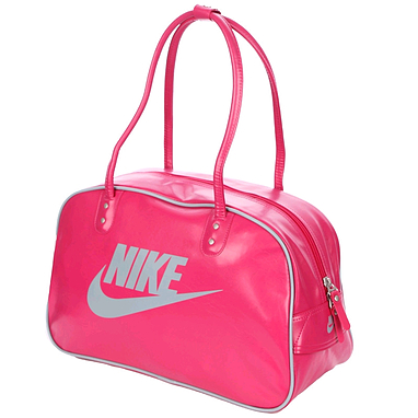 Сумка Nike Heritage Si Shoulder Club розовая с серым
