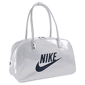 Фото 1 к товару Сумка Nike Heritage Si Shoulder Club серая с черным