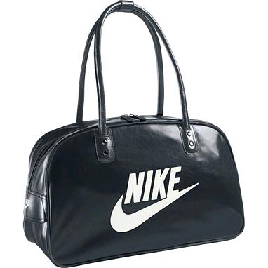 Сумка Nike Heritage Si Shoulder Club черная с белым