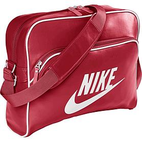 Фото 1 к товару Сумка Nike Heritage Si Track Bag красная с белым