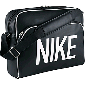 Сумка Nike Heritage Ad Track Bag черная с белым