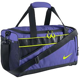 Фото 1 к товару Сумка женская спортивная Nike Varsity Duffel фиолетовая с черным