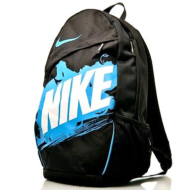 Рюкзак городской мужской Nike Classic Turf BP черный с голубым