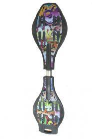 Скейтборд двухколесный (рипстик) RipStik Z-004-К граффити
