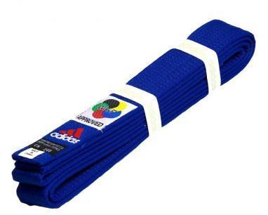 Пояс для кимоно Adidas WKF Approved синий