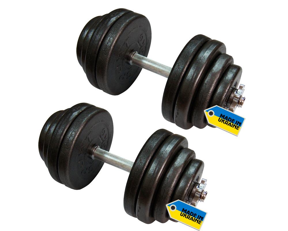Фото 2 к товару Гантели наборные стальные Newt Home 2 шт по 31,5 кг + подарок