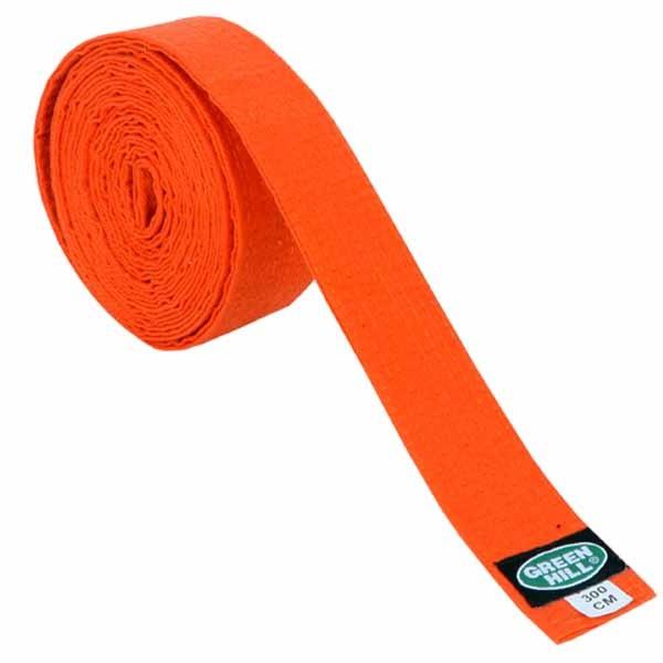 Пояс для кимоно Green Hill Olympic оранжевый - фото 1