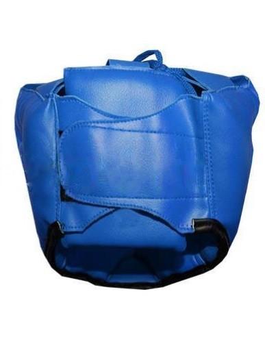 Шлем боксерский с полной защитой MATSA синий - фото 2