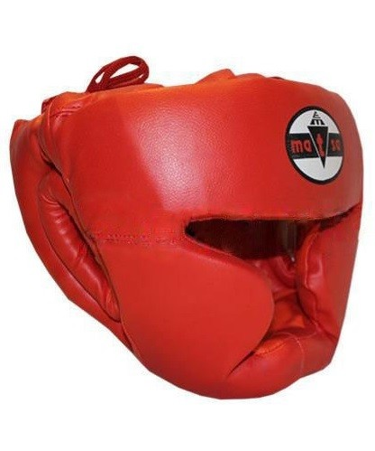 Шлем боксерский с полной защитой MATSA красный - фото 1