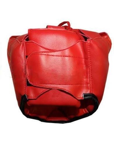 Шлем боксерский с полной защитой MATSA красный - фото 2