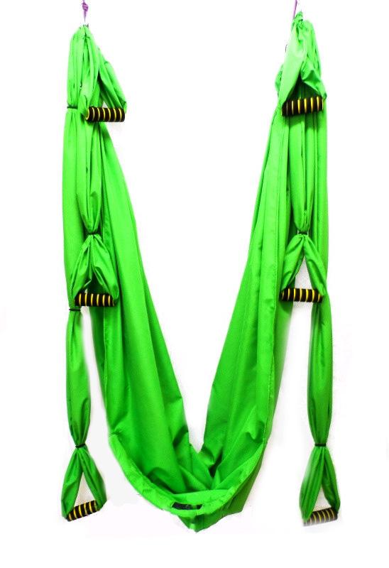 Фото 1 к товару Гамак для йоги ZLT Yoga swing FI-4439 зеленый