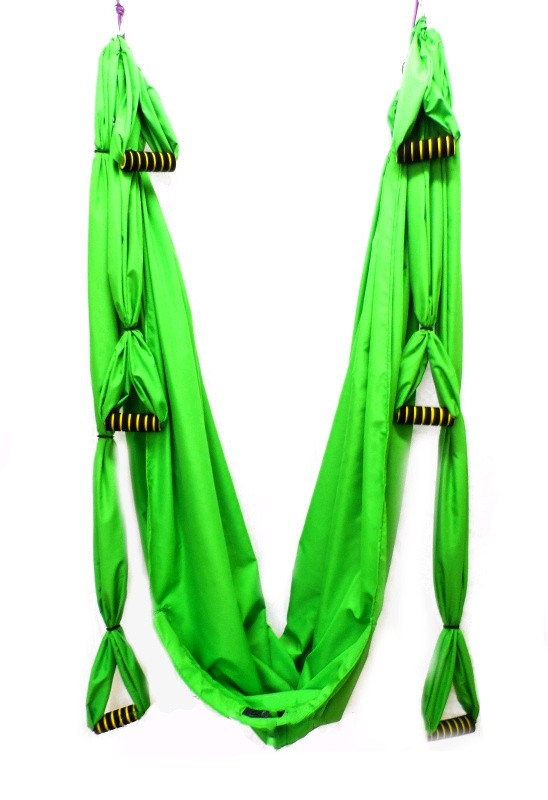 Гамак для йоги ZLT Yoga swing FI-4439 cалатовый - фото 1