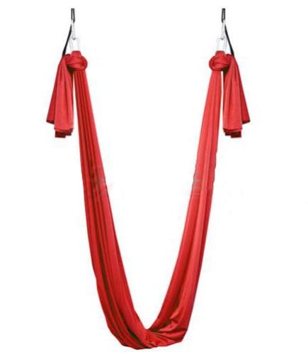 Гамак для йоги ZLT Yoga swing FI-4440 красный - фото 1